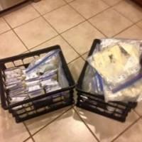 3,500 oz of frozen milk (.50 an oz) from high school teacher, vegetarian, mother of twins