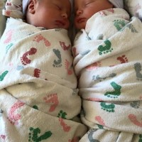Healthy second time surrogate delivered May19, 2015 to twins