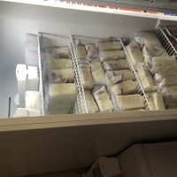 Oversupply clearing up freezer