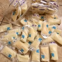 Frozen breast milk 6-10 ounce bags