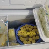 Small orders or bulk orders of breast milk