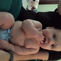 Preemie Baby is now a Chunk-a-Lunk with milk to spare!