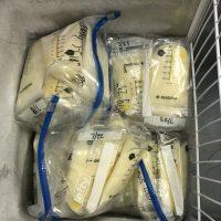 Lots of extra milk in my deep freezer