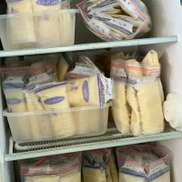 Mom selling Frozen Breastmilk Stash